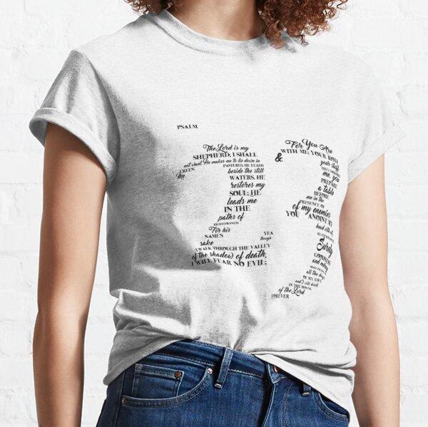 Psalm 23 Typography Classic T-Shirt