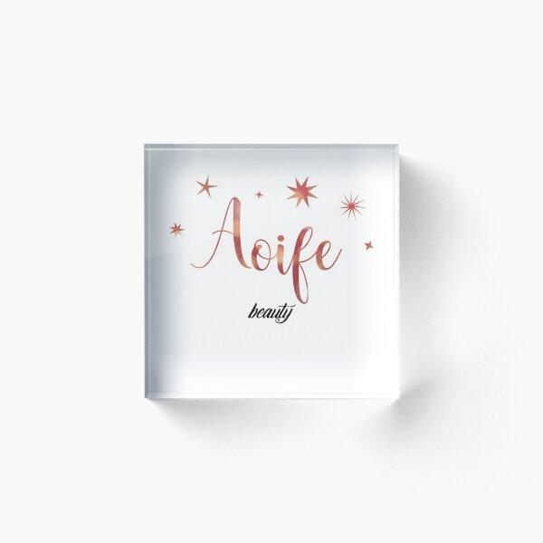 Aoife Acrylic Block
