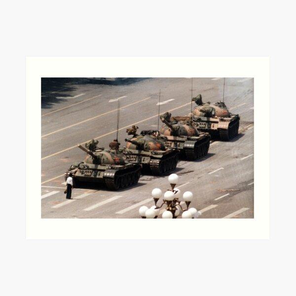 Tank Man, Tiananmen Square Art Print