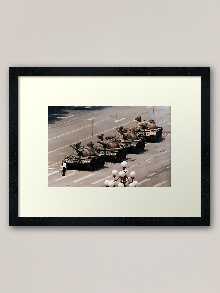 Alternate view of Tank Man, Tiananmen Square Framed Art Print
