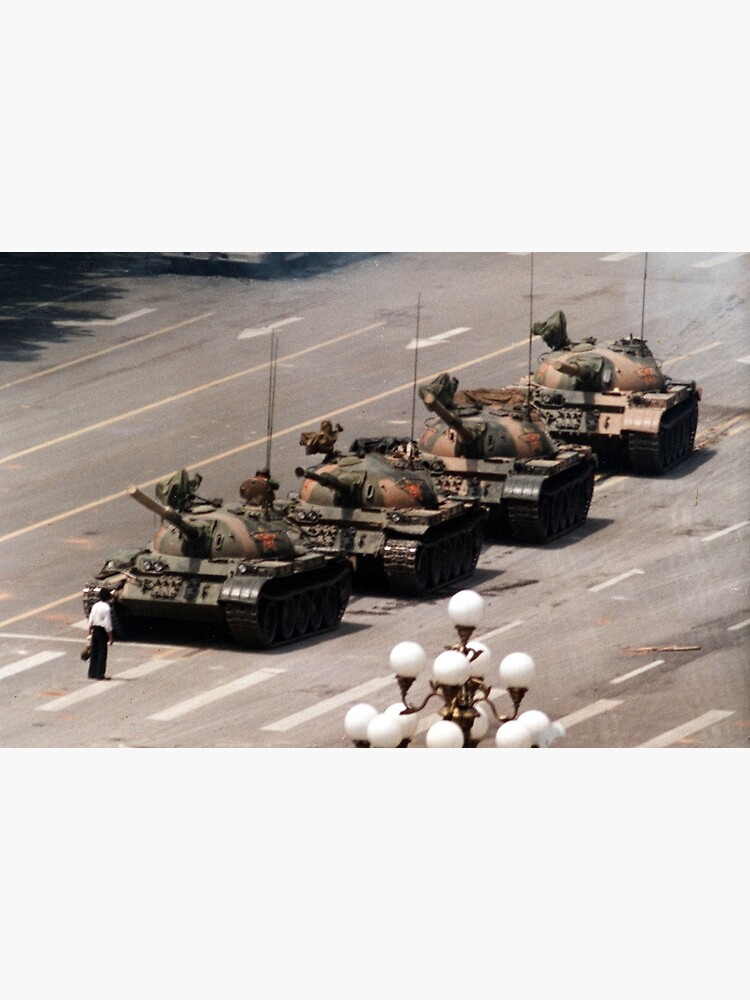 Tank Man, Tiananmen Square by RBEnt