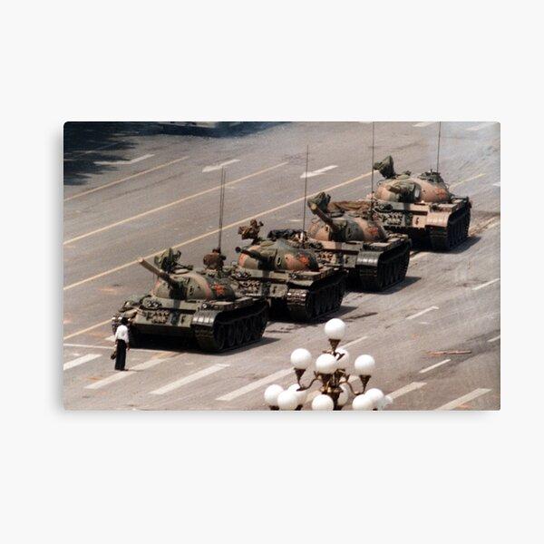 Tank Man, Tiananmen Square Canvas Print