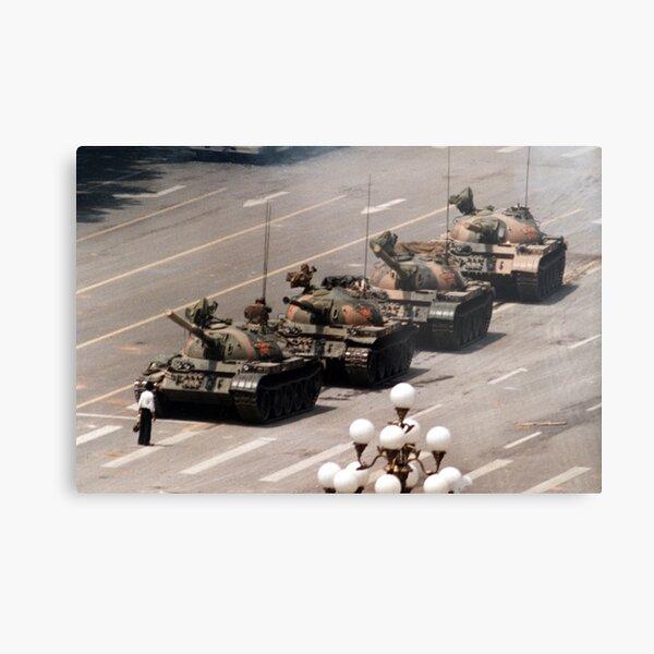 Tank Man, Tiananmen Square Metal Print