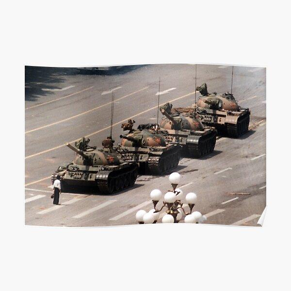 Tank Man, Tiananmen Square Poster