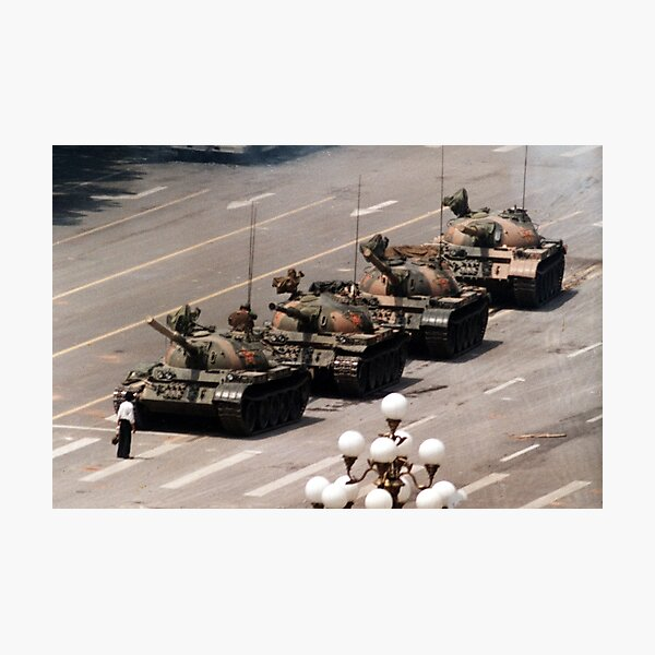 Tank Man, Tiananmen Square Photographic Print