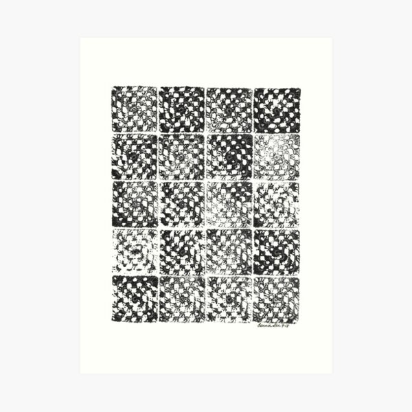 Crochet Impressions: GRANNY Art Print