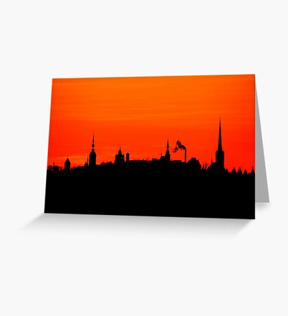 Hometown silhouettes Greeting Card