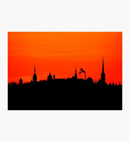 Hometown silhouettes Photographic Print