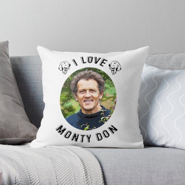 I Love Monty Don Throw Pillow