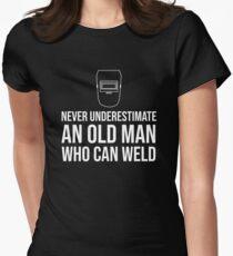 An Old Man Welder Grandfather Grandpa T-Shirt Women's Fitted T-Shirt