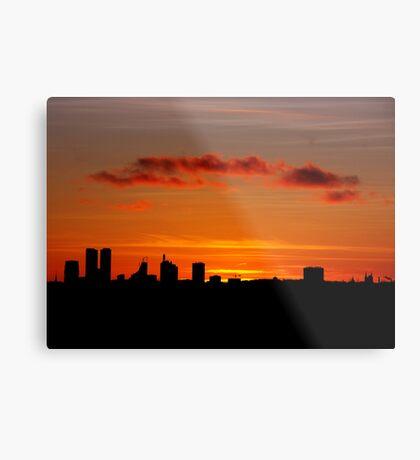 Hometown silhouettes. II Metal Print