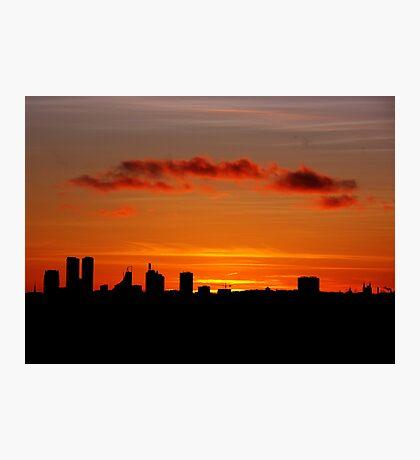 Hometown silhouettes. II Photographic Print