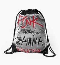 pink beautiful trauma Tour 2018 Drawstring Bag
