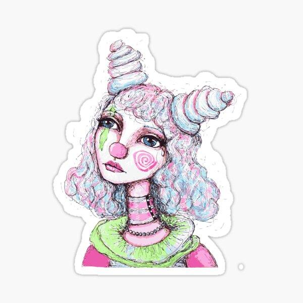 Sad Clown Girl Sticker
