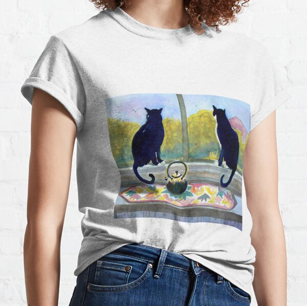 Tuxedo cats Jake and Elwood Watercolor Classic T-Shirt