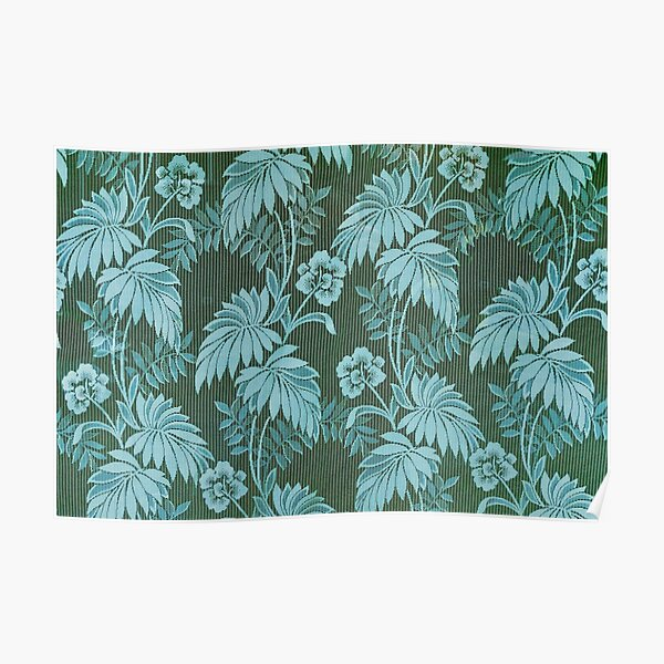 Tropical Forest - Flowers and Leaves - Green Poster