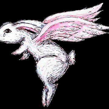 Sad Bunny Flies Away by LittleMissTyne