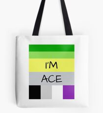 AROMANTIC FLAG ASEXUAL FLAG I'M ACE ASEXUAL T-SHIRT Tote Bag