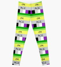 AROMANTIC FLAG ASEXUAL FLAG I'M ACE ASEXUAL T-SHIRT Leggings