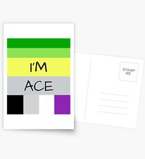 AROMANTIC FLAG ASEXUAL FLAG I'M ACE ASEXUAL T-SHIRT Postcards