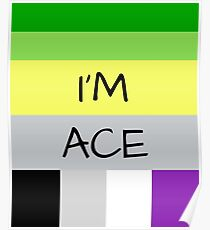 AROMANTIC FLAG ASEXUAL FLAG I'M ACE ASEXUAL T-SHIRT Poster