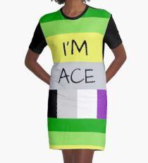 AROMANTIC FLAG ASEXUAL FLAG I'M ACE ASEXUAL T-SHIRT Graphic T-Shirt Dress