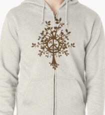 The Peace Tree Zipped Hoodie