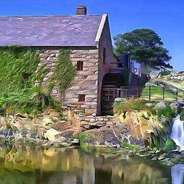 Annalongs Corn Mill, Ireland. (Painting) by cmphotographs