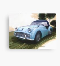 1960 Triumph TR3 Canvas Print