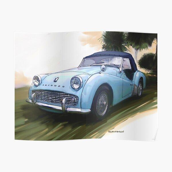 1960 Triumph TR3 Poster