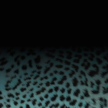 Turquoise ombre leopard by chihuahuashower