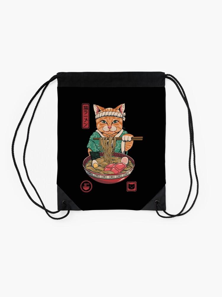 Alternate view of Neko Ramen Drawstring Bag
