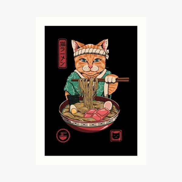 Neko Ramen Art Print