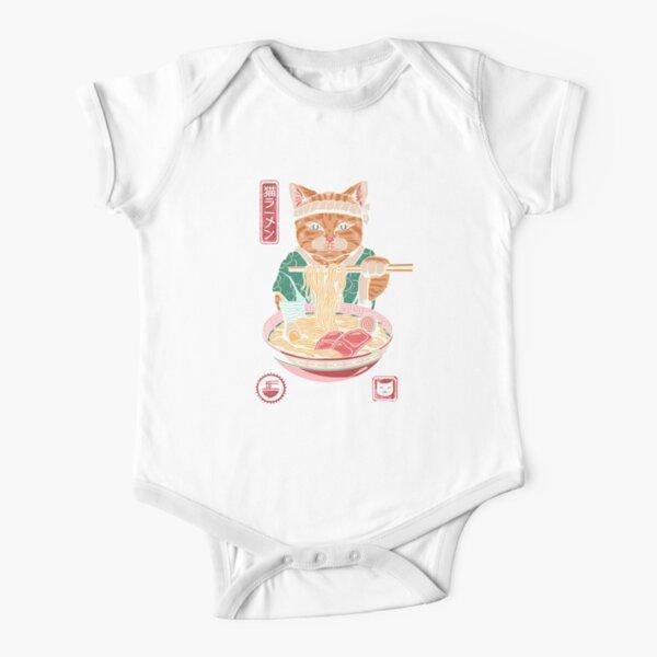 Neko Ramen Short Sleeve Baby One-Piece