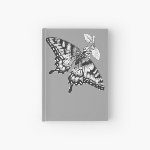 Beautiful Monarch Butterfly Ink Drawing (Products) Hardcover Journal