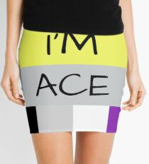 AROMANTIC FLAG ASEXUAL FLAG I'M ACE ASEXUAL T-SHIRT Mini Skirt