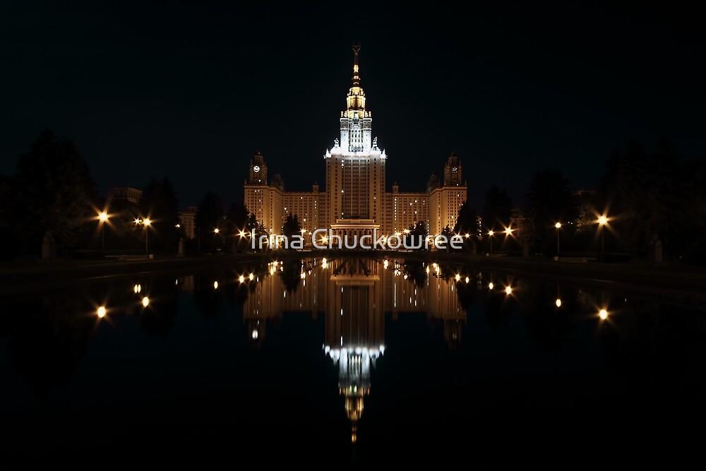 Moscow State University at Night by Irina Chuckowree