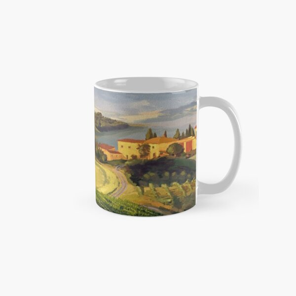 Art Scenery Farm Fields Classic Mug