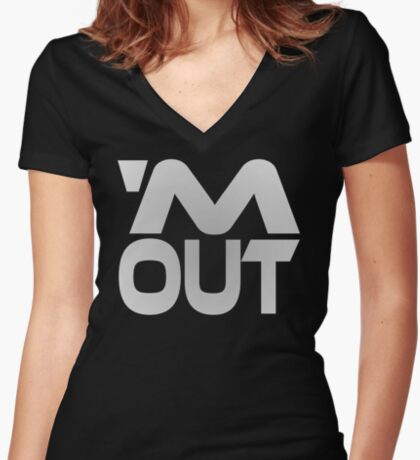 'M Out Women's Fitted V-Neck T-Shirt