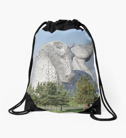 The Kelpies, Helix Park, Falkirk Drawstring Bag