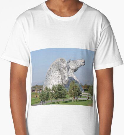 The Kelpies, Helix Park, Falkirk Long T-Shirt