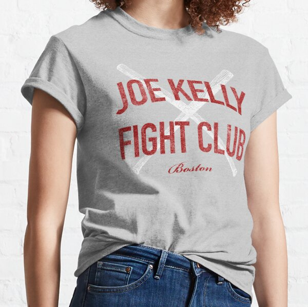 Vintage Distressed Red Tee Joe Kelly Fight Club Shirt for Boston Fans Classic T-Shirt