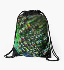 Water Drops - Rainbow Colors Drawstring Bag