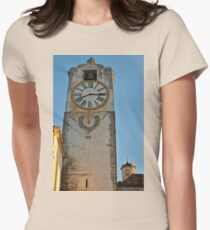 Old Church Clock Tower Women's Fitted T-Shirt