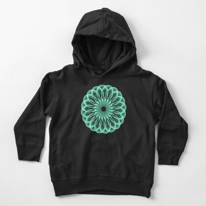 Spirograph in seagreen Toddler Pullover Hoodie