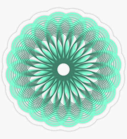 Spirograph in seagreen Transparent Sticker