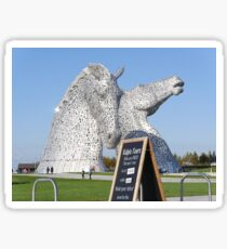 The amazing Kelpies , Helix Park, Falkirk , Scotland Sticker