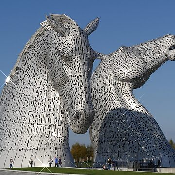 amazing Kelpies in the Helix Park, Falkirk , Scotland. by goldyart