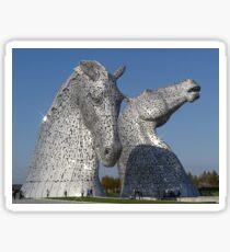 amazing Kelpies in the Helix Park, Falkirk , Scotland. Sticker