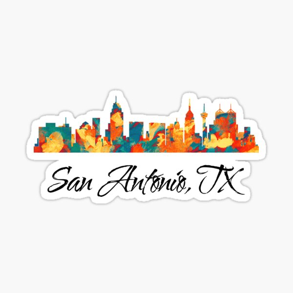 San Antonio Texas Skyline Sticker